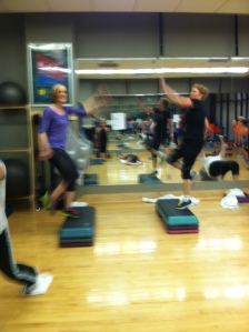 Laura and Vicki are working that cardio station!