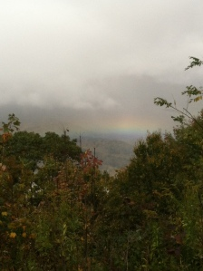 rainbow. mountain to mountain