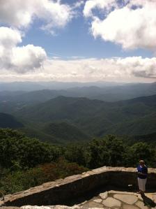 A view atop Wayah Bald.