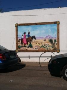A mural in Mesilla