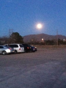 A full moon on our last evening at the VFW