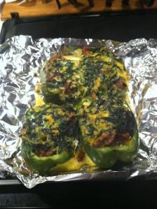 Breakfast Stuffed Peppers. So, so good...